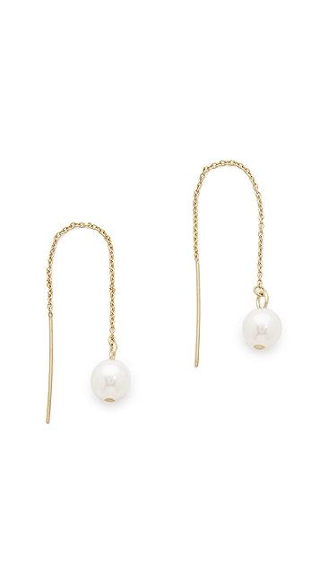 Rebecca Minkoff Bead Threader Earrings