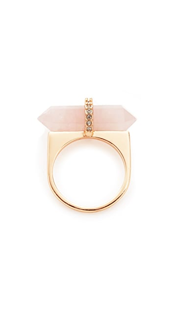 Rebecca Minkoff Raw Crystal and Pave Ring