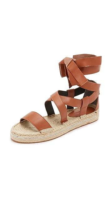 Rebecca Minkoff Gila Lace Up Espadrille Sandals