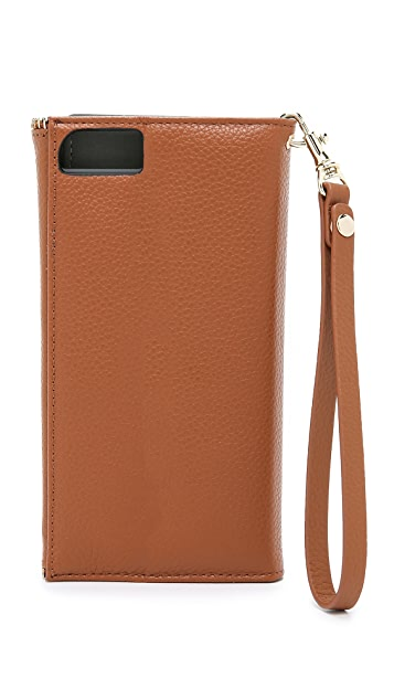 Rebecca Minkoff Leather Folio iPhone 6 Plus/ 6s Plus Wristlet