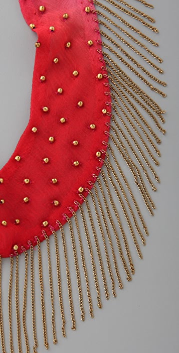 ROARKE new york Charo Beaded Necklace with Fringe