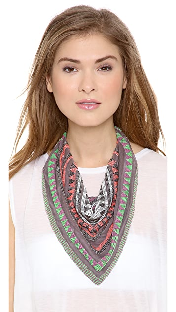 ROARKE new york Tulum Bib Necklace / Headscarf
