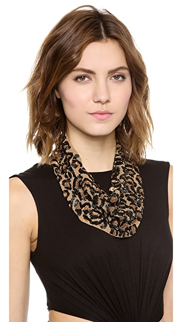 ROARKE new york Leopard Bib Necklace