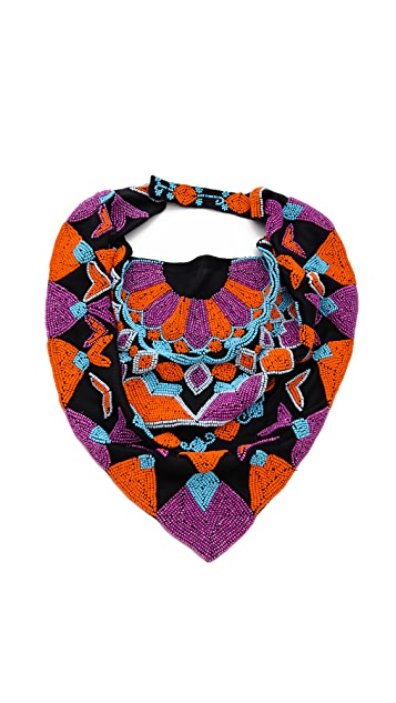 ROARKE new york Tile Bib Necklace