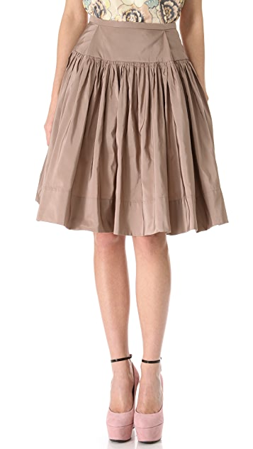Rochas Full Faille Skirt