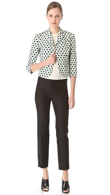 Rochas Black Silk Pants