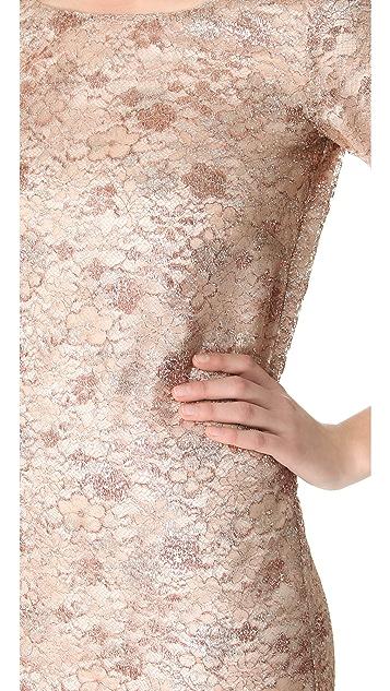 Rochas Metallic Lace Dress