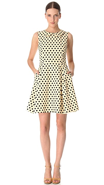 Rochas Sleeveless Polka Dot Dress