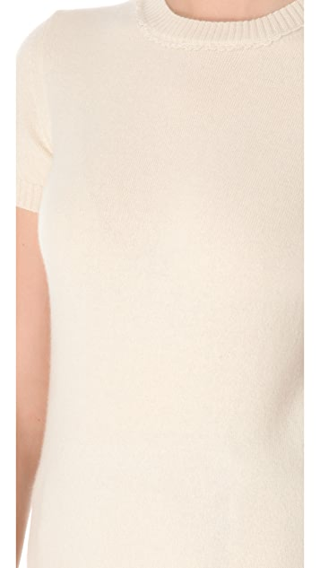Rochas Short Sleeve Cashmere Top