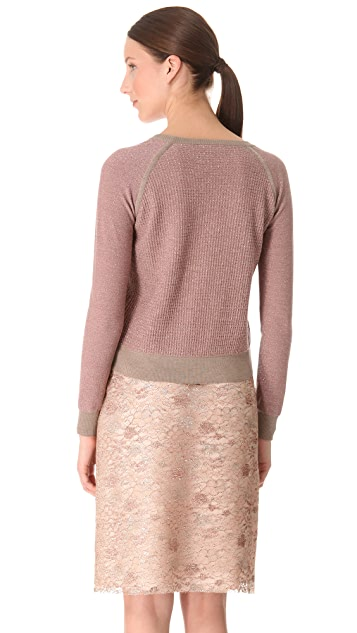 Rochas Metallic Wool Sweater