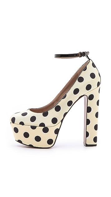Rochas Polka Dot Platform Heels