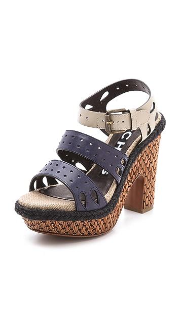 Rochas Strapped Platform Sandals