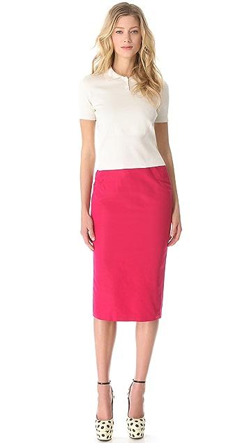 Rochas Faille Pencil Skirt