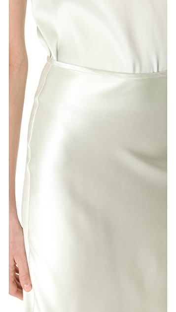Rochas Acqua Silk Pencil Skirt