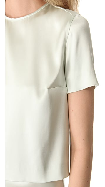 Rochas Satin Cropped Tee