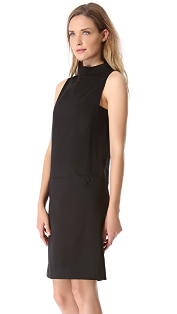 Rochas Sleeveless Button Back Dress
