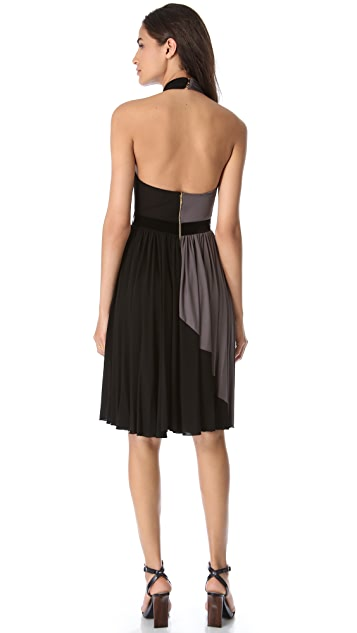 Rochas Halter Two Tone Dress