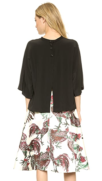Rochas Split Back Silk Blouse