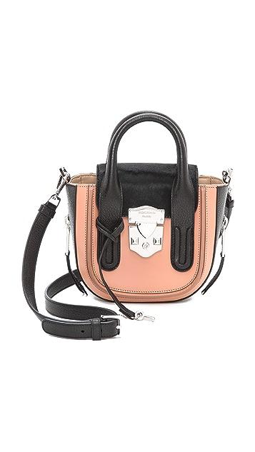 Rochas Leather & Haircalf Handbag