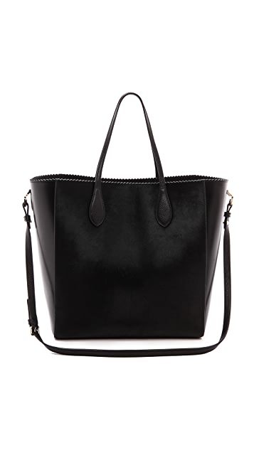 Rochas Leather & Haircalf Tote