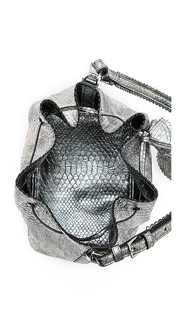 Rochas Snake Embossed Drawstring Bag