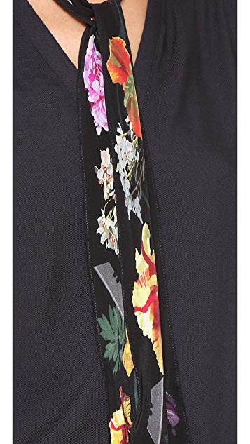 Rockins Super Skinny Flora Silk Scarf