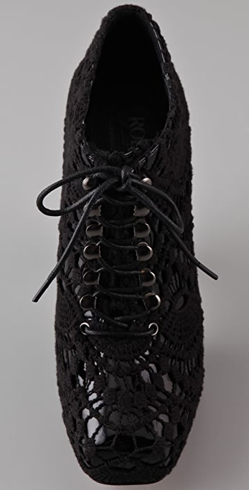 Rodarte for Opening Ceremony Crochet Lace Up Booties