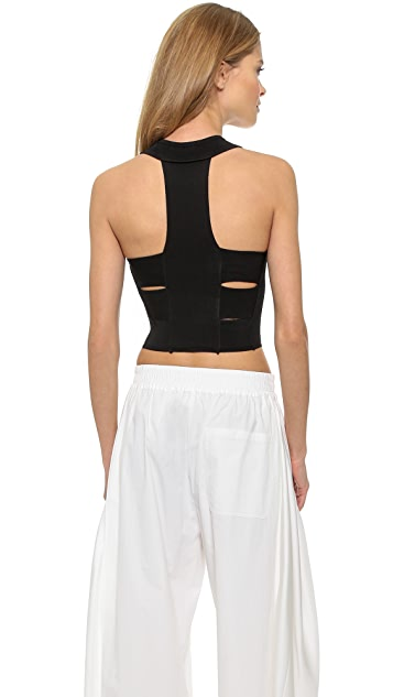 Ronny Kobo Rhea Blister Stitch Crop Top