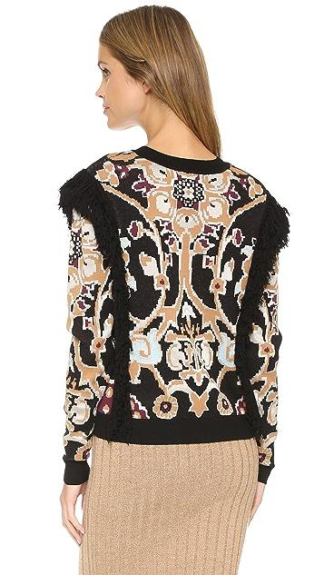 Ronny Kobo Tilda Fringe Sweater