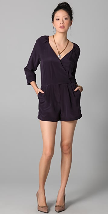 Rory Beca James Raglan Wrap Romper