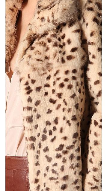 Rory Beca Moss Fur Jacket
