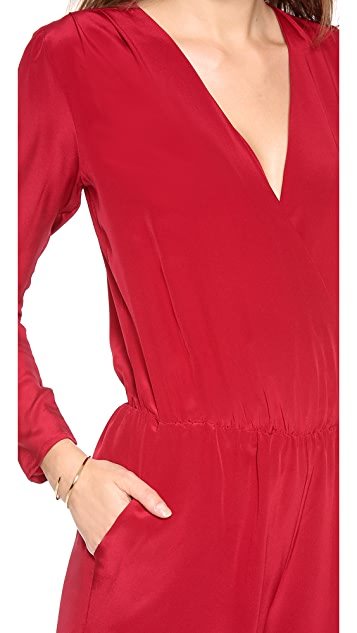 Rory Beca Lenoir Long Sleeve Wrap Romper