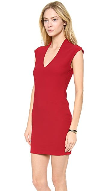 Rory Beca Spivey Low V Neck Fitted Dress