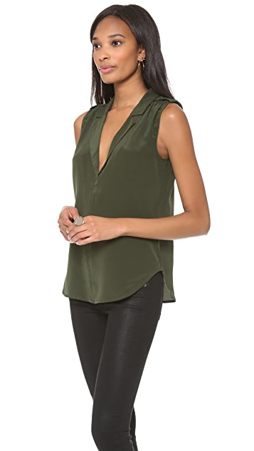 Rory Beca Adams Shirred Shoulder Top