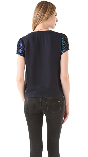 Roseanna Moon Silk Dot Tee