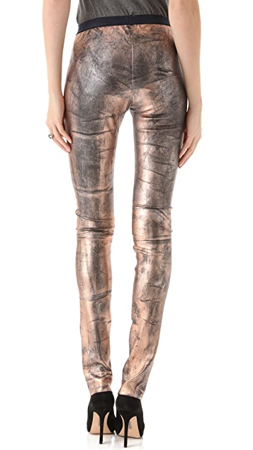 Roseanna Bones Leather Pants