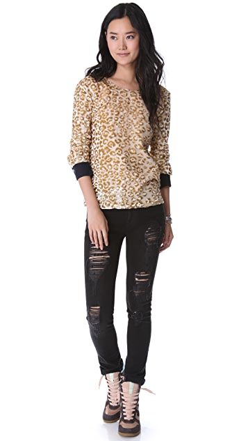 Roseanna Terry Leopard V Back Blouse