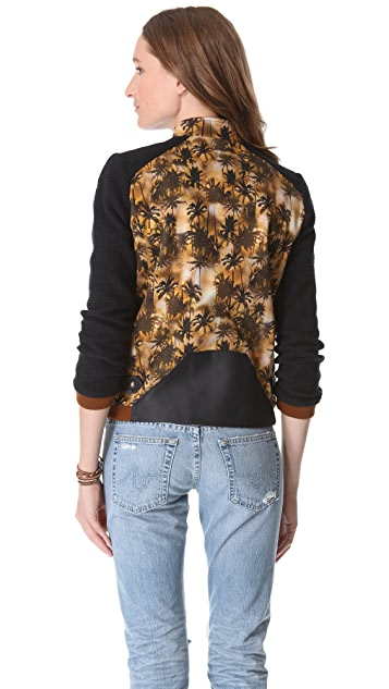 Roseanna Hawke Palm Tree Bomber Jacket