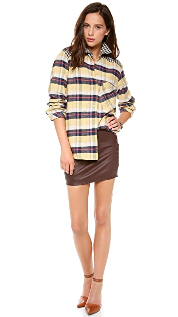 Roseanna Young Plaid Button Down
