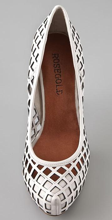 ROSEGOLD Marni Laser Cut Heels