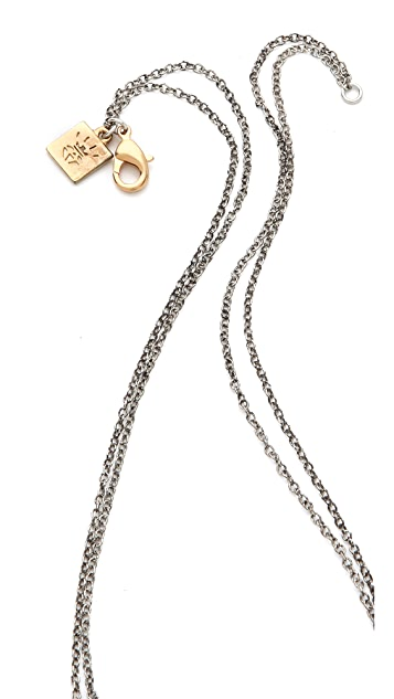 Rose Pierre Snelled Fish Hook Necklace