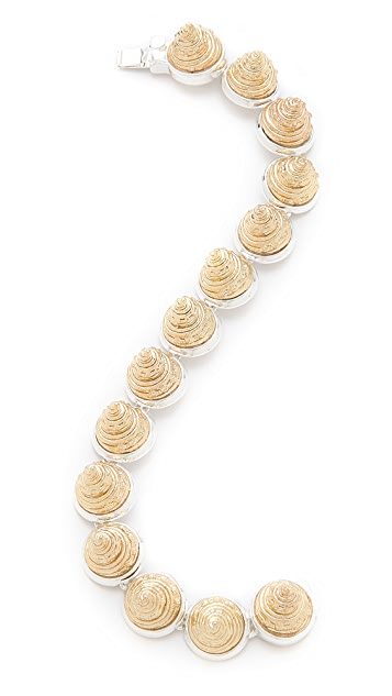 Rose Pierre Harp Seashell Bracelet
