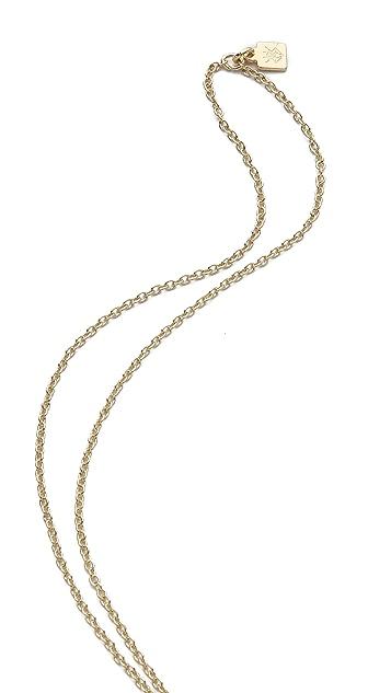 Rose Pierre White Sand Castle Necklace