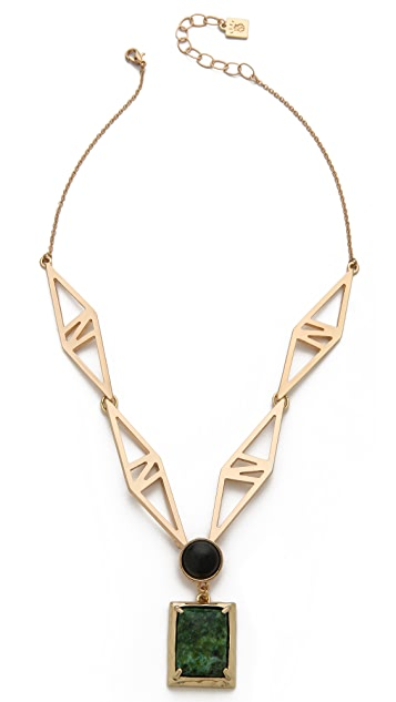Rose Pierre Dining In Deco Necklace