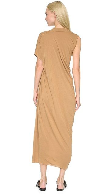Rick Owens Lilies Side Drape Maxi Dress