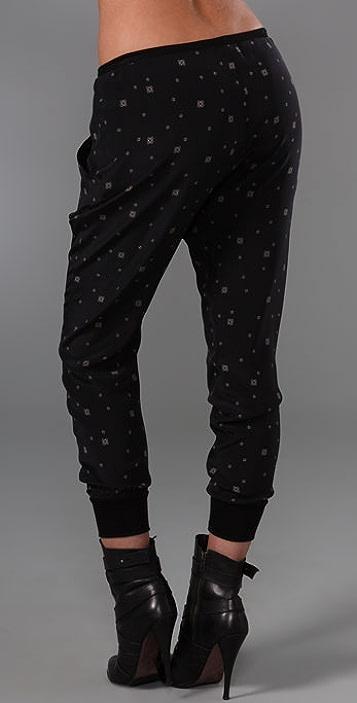 Rozae R.N. Silk Print Pants