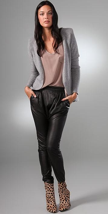 Rachel Pally Shoulder Pad Cardigan Sweater