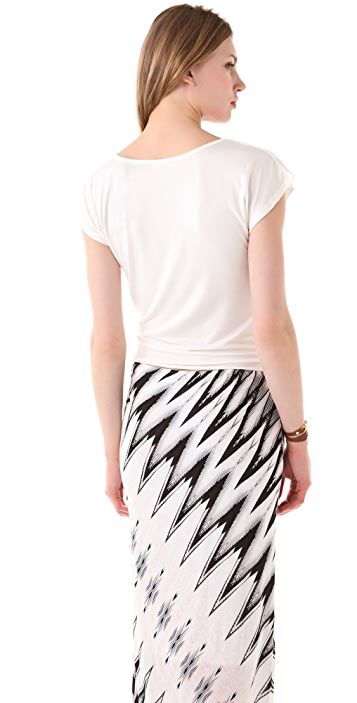 Rachel Pally Tie Front Cropped Top