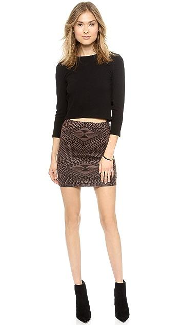 Rachel Pally Intarsia Miniskirt