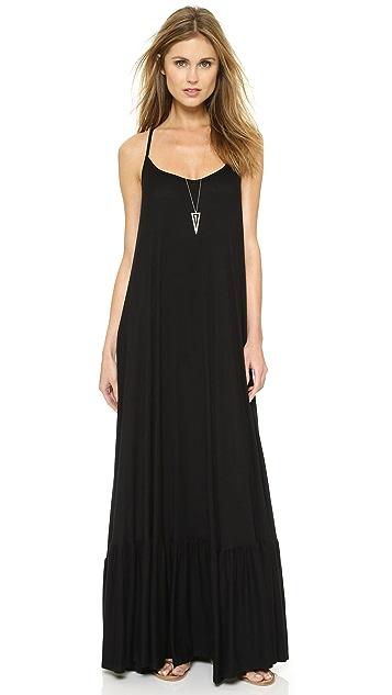 Rachel Pally Ribbed Dove Maxi Dress